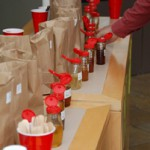Maine raw honey samples entered into the York County Beekeepers Honey Contest