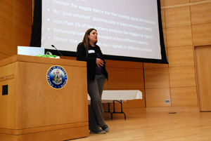 Dr. Julianna Rangel discusses swarming signals as observed inside hives.