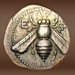 Ancient Greeks minted coins with bees on them.