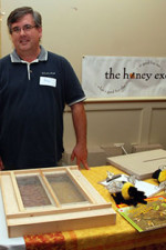 Phil Gaven of the Honey Exchange in Portland at the Maine State Beekeepers Annual Meeting